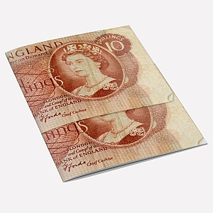 10 Shilling Note A6 Notebook